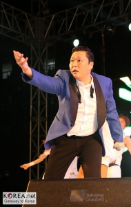 South Korean rapper Psy.