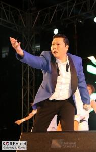 South Korean rapper Psy.