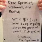 Dear Optimist, etal