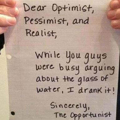 Dear Optimist, et al