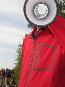 Megaphone Man by The Infatuated via Flickr