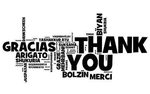 Thank You by woodleywonderworks via Flickr and Wordle.net