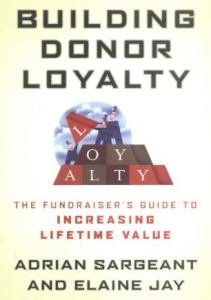Cover- Building Donor Loyalty -- click to see book at Amazon