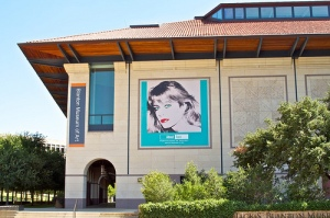 Warhol's Farrah Fawcett portrait on exhibit at the UT Blanton Museum.