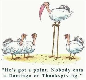 Thanksgiving Cartoon by Cathy Liu via Flickr