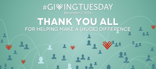 #GivingTuesday Thank You