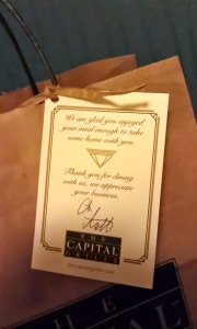 Capital Grille TY Note