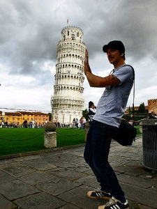 Holiding Up Leaning Tower of Pisa by BJ Carter via Flickr