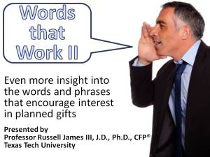 Words that Work II