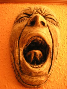 The Screaming Man by Walt Jabsco via Flickr